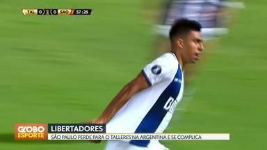 São Paulo estreia com derrota na Libertadores - Tricolor paulista perde para o Talleres (ARG) fora de casa e se complica na competição.
