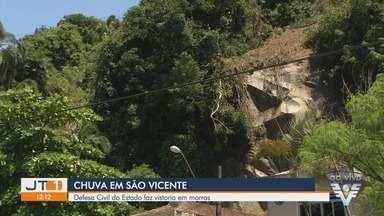Defesa Civil do Estado realiza vistorias em Morros de São Vicente, SP - Em decorrência da chuva desta semana quatro apartamentos e duas casas foram interditados nos Morros do Itararé.