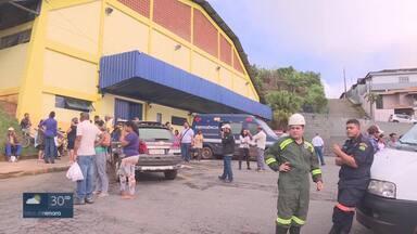 Moradores de Barão de Cocais são levados para hotéis e casas de parentes após alerta - Vale informou que nova inspeção será feita em barragem neste domingo (10).