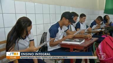 Escola Maria Uchôa continua com ensino integral na grade em 2019 - Em 2018, a escola Frei Ambrósio também ofertou a modalidade, mas após problemas de infraestrutura e até de alimentação o educandário volta a ser de ensino regular.