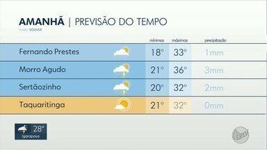 Veja a previsão do tempo para este domingo na região de Ribeirão Preto, SP - Termômetros marcam máxima de 30 graus em Franca (SP).