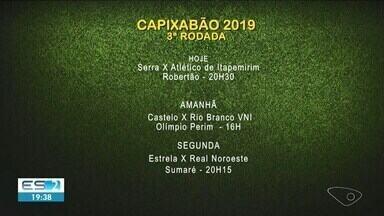 Times do Sul do ES entram em campo para mais uma rodada do Capixabão - Veja os jogos da rodada.