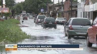 Fortes chuvas provocam mais de 30 pontos de alagamentos em Macapá - Pontos alagamos acontecem, geralmente, próximos à bueiros com lixo e áreas aterradas.
