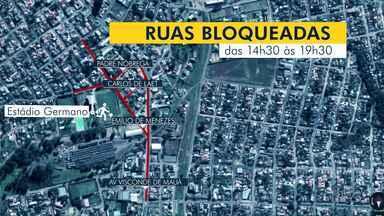 Ruas no entorno do Germano Krüger terão alterações neste domingo por causa do jogo - O Operário enfrenta o Coritiba neste domingo (10) às 17h.