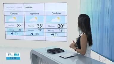 Confira a previsão do tempo para o interior do Rio neste domingo (10) - Assista a seguir.
