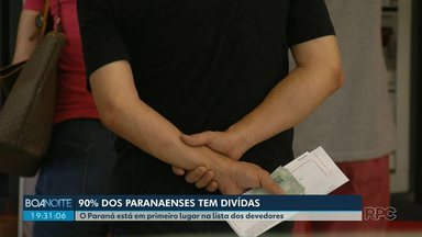 90% dos paranaenses têm dívidas - O Paraná está em primeiro lugar na lista dos devedores do Brasil.