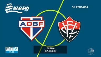 Líderes do Campeonato Baiano, Bahia de Feira e Vitória se enfrentam no domingo - Partida acontece a partir das 16h, em Feira de Santana.