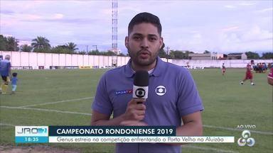 Genus enfrenta Porto Velho no Campeonato Rondoniense - Partida inicia às 20h no ALuizão.