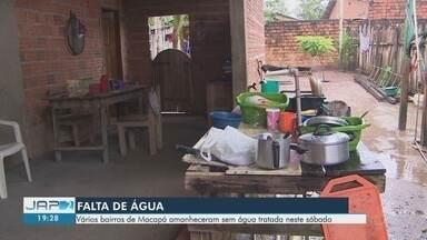Sem água, moradores deixam de lavar roupa e a casa - Situação atinge também bairros das zonas Norte, Sul e Centro da capital.