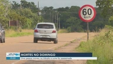 Uma pessoa morre em acidente de trânsito e outra é assassinada no fim de semana em Macapá - Acidente foi na Rodovia do Curiaú. O motociclista morreu no local.