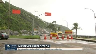 Niemeyer não tem previsão para reabrir. - Moradores do Vidigal e da Rocinha têm medo de novos deslizamentos