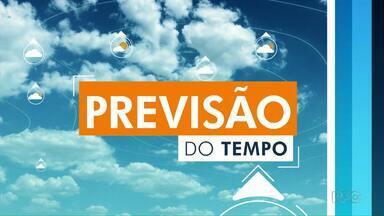Confira a previsão do tempo para o oeste e sudoeste do Paraná - Tem chuva prevista.