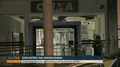 Bandidos atacam agências bancárias em Piraí do Sul - Explosões assustaram moradores.