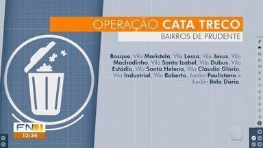 Operação Cata Treco recolhe materiais em Presidente Prudente - Funcionários da Prudenco fazem o mutirão de limpeza nos bairros.