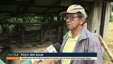 Moradores do distrito do Guaragi enfrentam dificuldades com o fornecimento de água - Há quase sete anos um poço foi perfurado na comunidade, mas ainda não tem água disponível.