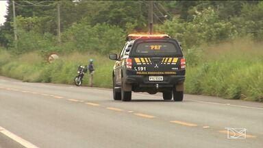 PRF recupera motocicleta roubada no Vale do Pindaré - Vítima teve o veículo devolvido minutos após o assalto.