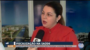 Coren vistoria unidades de saúde no interior do Piauí - Coren vistoria unidades de saúde no interior do Piauí