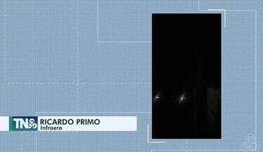 Tô na Rede: falta iluminação pública na avenida Bacuris no bairro Infraero, em Macapá - Reclamação foi registrada pelo aplicativo da Rede Amazônica.