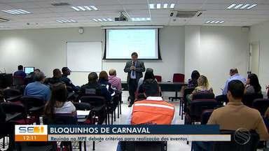 Reunião debate critérios para realização de bloquinhos em Aracaju - Reunião debate critérios para realização de bloquinhos em Aracaju.
