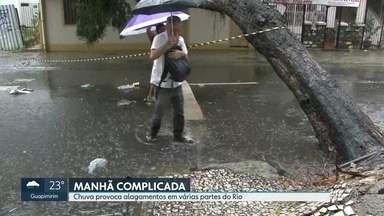 Chuva deixa ruas alagadas e complica a manhã dos cariocas - Confira a previsão do tempo completa para os próximos dias