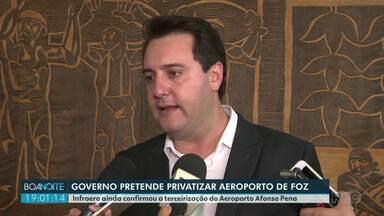 Governo estuda privatizar aeroportos - Anúncio foi feito pelo governador Ratinho Júnior.