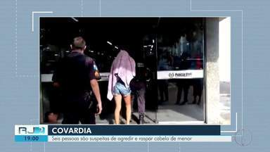 Seis pessoas são suspeitas de agredir e cortar cabelo de menor em Campos, no RJ - Assista a seguir.