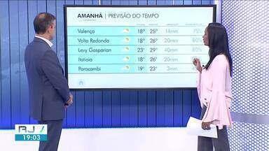 Previsão de chuva segue na quarta-feira em todo Sul do Rio - Confira como ficam as temperaturas em algumas cidades da região.