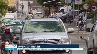 Sinalização horizontal e faixa de pedestre serão revitalizadas na Av. Brasil, diz Destra - Acidente envolvendo grávida aconteceu sábado (9) no local.