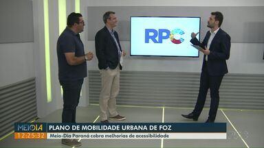 Meio-Dia Paraná discute o plano de mobilidade urbana de Foz - Repórteres percorreram em quatros dias um trecho de carro, ônibus, bicicleta e a pé e apontaram problemas.