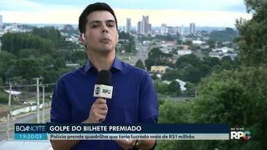 Quadrilha de estelionatários é presa, em Guarapuava - Eles aplicavam golpes do bilhete premiado e fizeram várias vítimas.