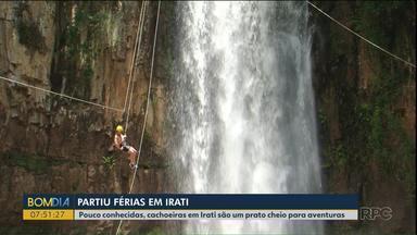 Conheça as belezas das cachoeiras na região de Irati - O local tem passeios para quem aprecia a natureza e gosta de adrenalina.