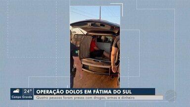Operação contra tráfico de drogas termina com 4 presos - PM e PC cumpriram ainda seis mandados de busca e apreensão em Fátima do Sul.