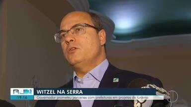 Governador prometeu parcerias com prefeituras em projetos de turismo na Região Serrana - Assista a seguir.