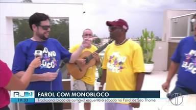 Monobloco esquenta o sábado no Farol de São Thomé, em Campos, no RJ - Assista a seguir.