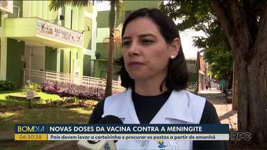 Maringá recebe mais vacinas depois de morte por meningite - Pais estão em alerta após a morte de uma criança de 2 anos na semana passada.