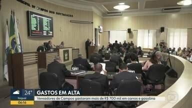 Vereadores de Campos gastaram mais de R$ 700 mil reais em carros e gasolina - Parlamentares voltaram ao trabalho nesta semana.