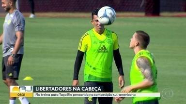 Fla com a cabeça na Libertadores - Time enfrenta o Americano no domingo pelo Campeonato Carioca já pensando na estreia na competição sul-americana.
