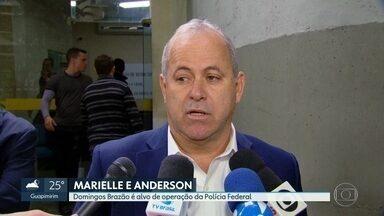 Domingos Brazão é alvo de operação da PF na investigação do caso de Marielle e Anderson - O conselheiro já tinha sido afastado do Tribunal de Contas do Estado. Foram cumpridos mandados de busca e apreensão e a investigação apura tentativas de atrapalhar as investigações dos assassinatos de Marielle Franco e Anderson Gomes.