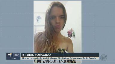 Homem suspeito de matar jovem de Araras é preso em Praia Grande - Segundo a Polícia, ele confessou o crime e disse que a motivação foi uma traição. Ele vai responder por feminicídio.