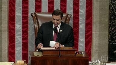 Câmara dos EUA aprova a derrubada da declaração de emergência nacional na fronteira - Esse decreto foi baixado por Donald Trump, na tentativa de conseguir construir um muro na fronteira, mesmo sem autorização do Congresso.