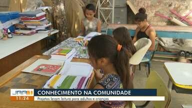 Projetos de leitura estimulam adultos e crianças em Boa Vista - Serviços gratuitos oferecem obras ao alcance da comunidade.