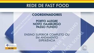 Confira oportunidade de emprego em rede de fast food - Assista ao vídeo.