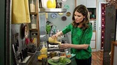 Milho - Rita transforma um ingrediente trivial em preparações cheias de charme: uma sopa cremosa de milho; panquecas americanas; e um bolo de micro-ondas.