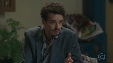 Walid conta para Afrodite a conversa que teve com Nicolau sobre Diana - Roseane não deixa Patrício falar com Liliane