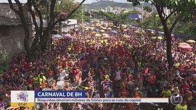 Carnaval continua em Belo Horizonte na Quarta-feira de Cinzas - Blocos ainda desfilam na capital mineira.