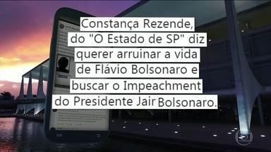 Comentário de Bolsonaro contra jornalista provoca críticas - Presidente se baseou em informações falsas publicadas originalmente em site francês