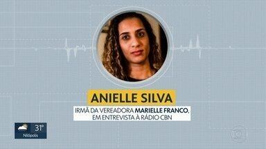 Irmã de Marielle Franco diz que ainda busca respostas sobre motivação do crime - Irmã de Marielle Franco diz que ainda busca respostas sobre motivação do crime.