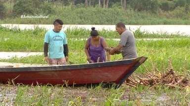 Parte 1: Cheia do rio Solimões gera prejuízos para agricultores de Manaquiri, no AM - Agricultores correm contra o tempo para não perder a produção.