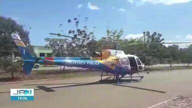 Bebê em estado grave é transferido de helicóptero de Miracema para Palmas - Bebê em estado grave é transferido de helicóptero de Miracema para Palmas