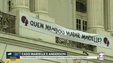 Assassinato de Marielle Franco completa um ano com diversas homenagens - Ato na Cinelândia vai cobrar a elucidação completa do crime. Delegado do caso é substituído.